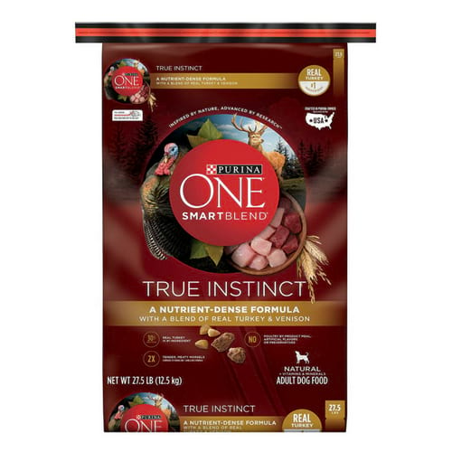Purina ONE SmartBlend True Instinct Turkey and Venison Formula Dry Dog Food