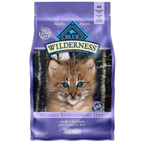 BLUE Wilderness High Protein Grain Free Kitten Dry Cat Food