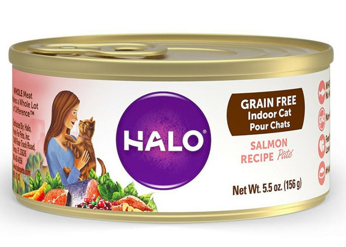 Halo Holistic Natural Wet Cat Food for Indoor Adult Cats