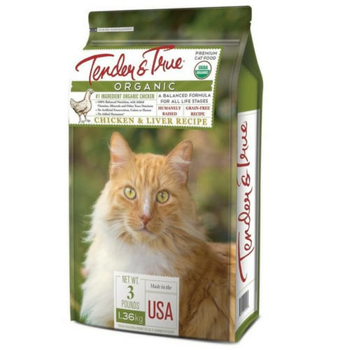 Tender and True Cat Food Organic Chicken Liver Dry