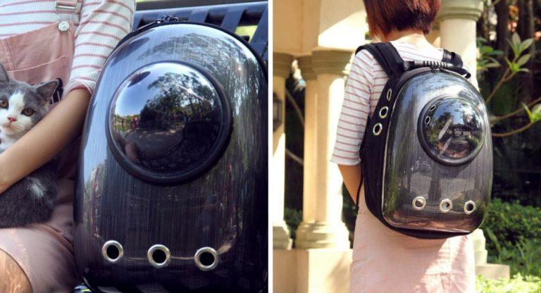 Lemonda Portable Waterproof Space Capsule Design Travel Cat Carrier